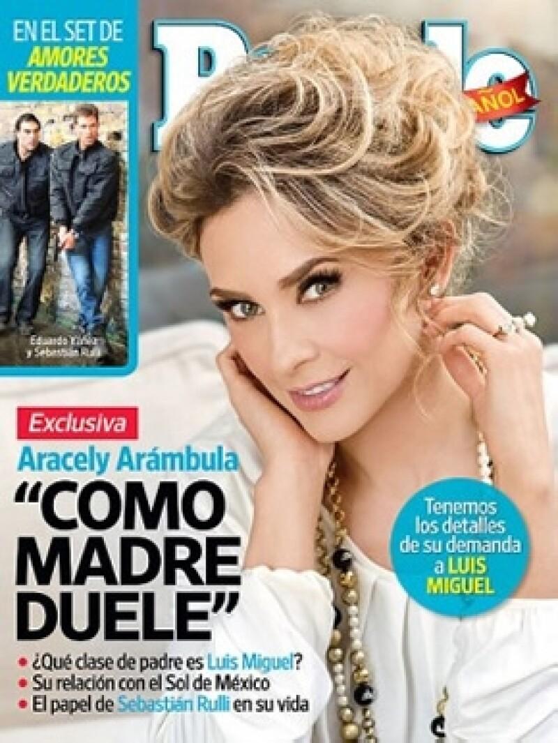 Esta es la portada de People en Español con Aracely en portada.
