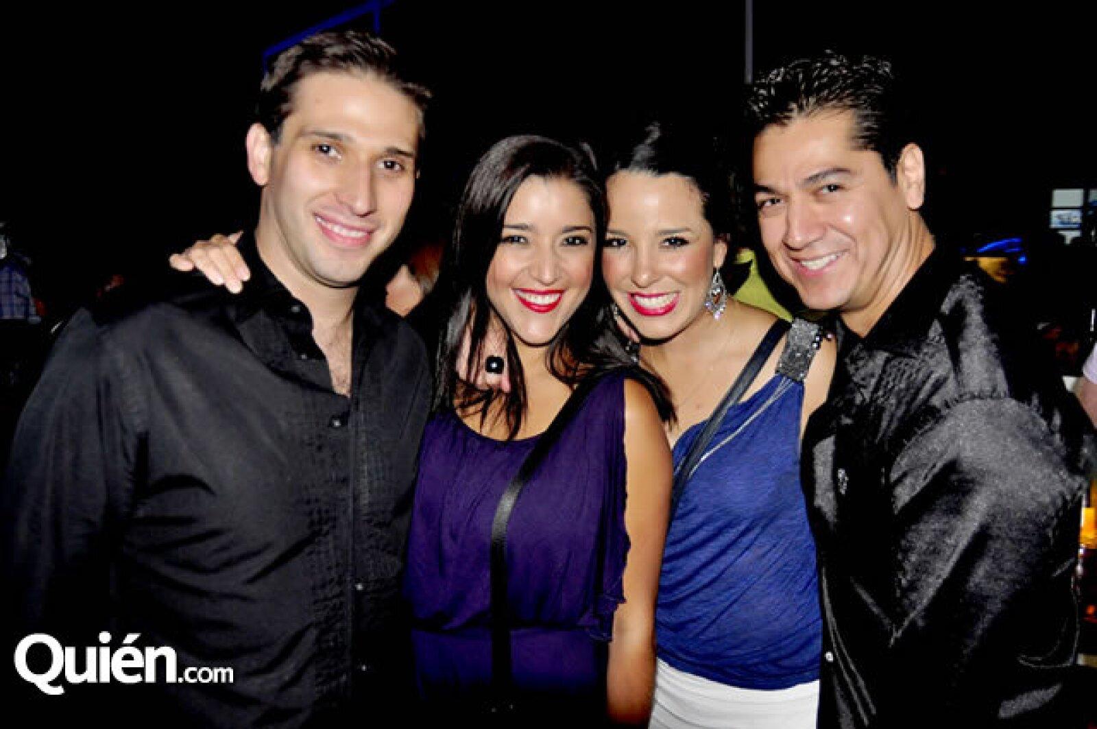 Jean-Paul Lemoine, Lucía Muñóz, Rosa Ibarra y Mauricio Moreno