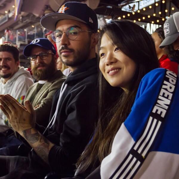 Zanassi, Max Villegas, Diego Alfaro y Seo Ju no querían perderse ni una sola jugada.
