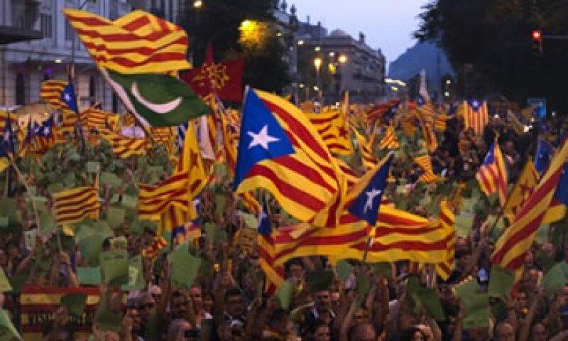La crisis que vive España ha avivado el sentimiento separatista de Cataluña.  (Foto: Reuters)