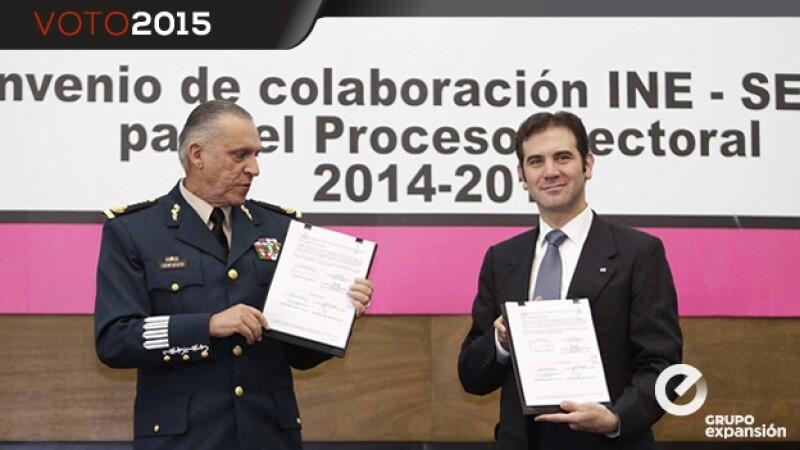 Firma del convenio de colaboración entre el INE y la Sedena