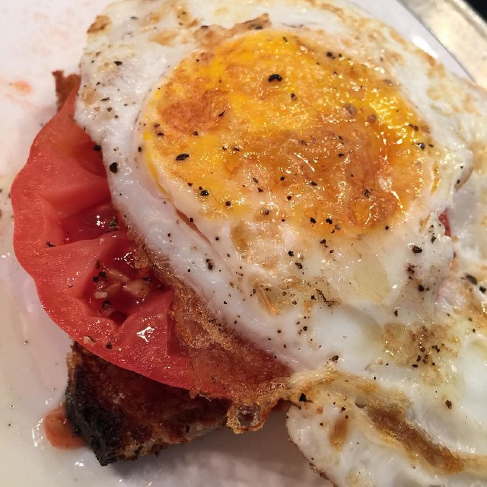 A pesar de los antojos, la artista disfruta todas las mañanas de un nutritivo omelette.