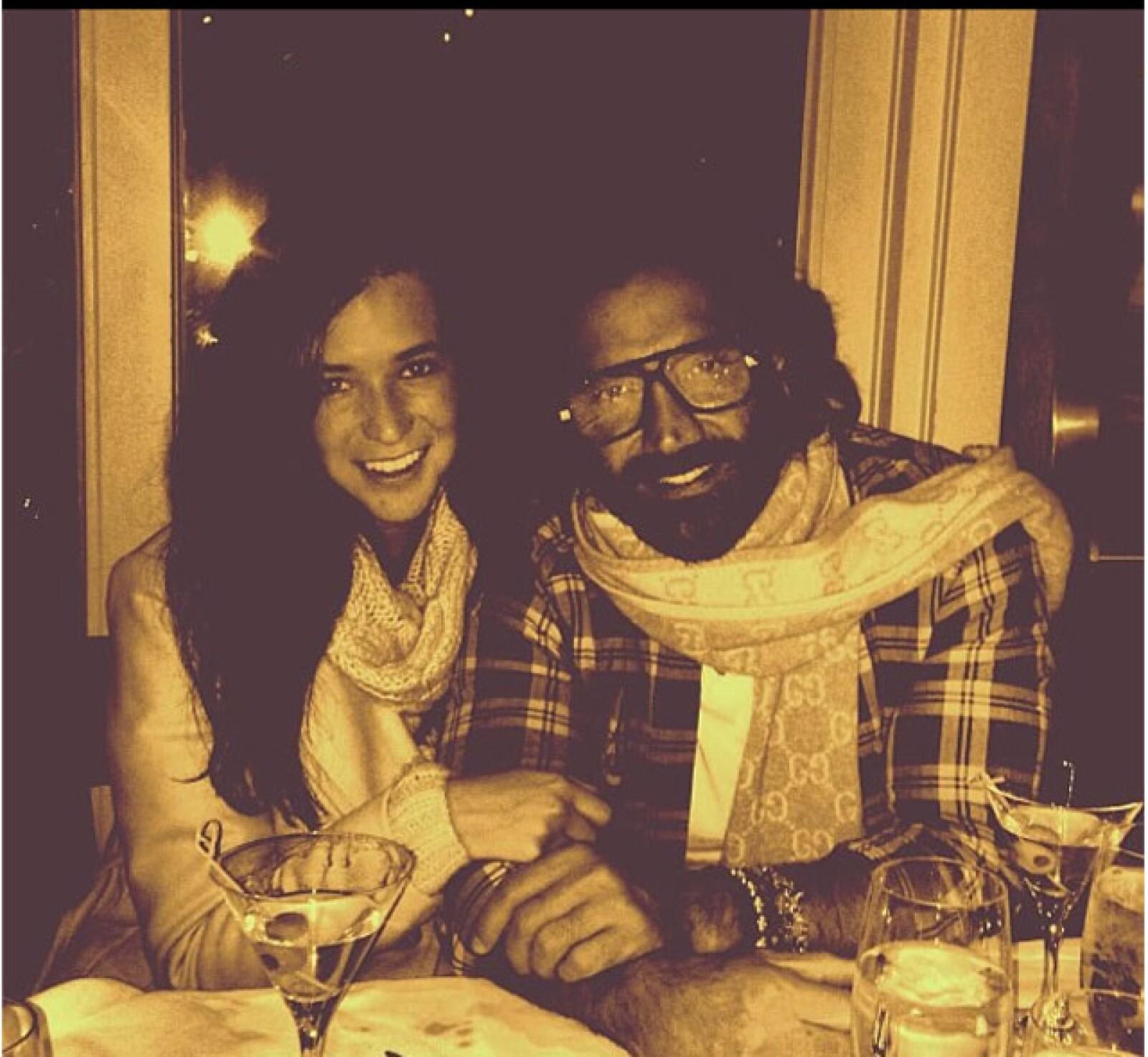 Junto a su actual pareja Karla Laveaga este año.