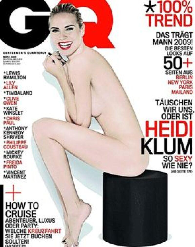 La top model aparecerá sin ropa en la portada de marzo de la edición alemana de GQ.