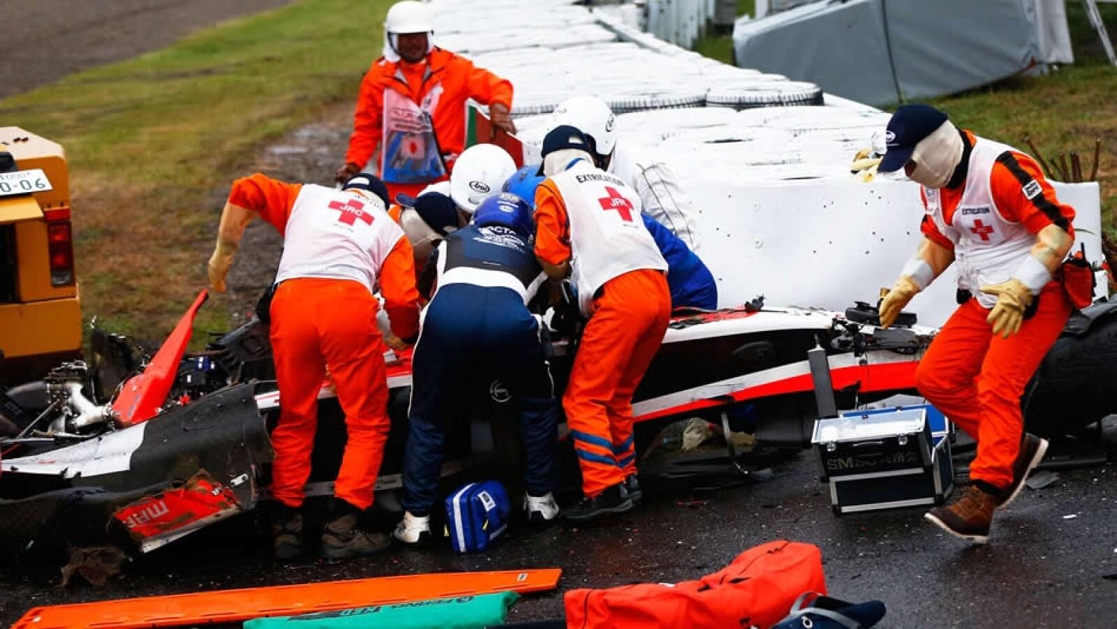 Jules Bianchi, piloto de Fórmula Uno, sufrió un accidente durante el Gran Premio de Japón que lo dejó gravemente herido el pasado seis de octubre; el 19 de noviembre, salió de coma inducido
