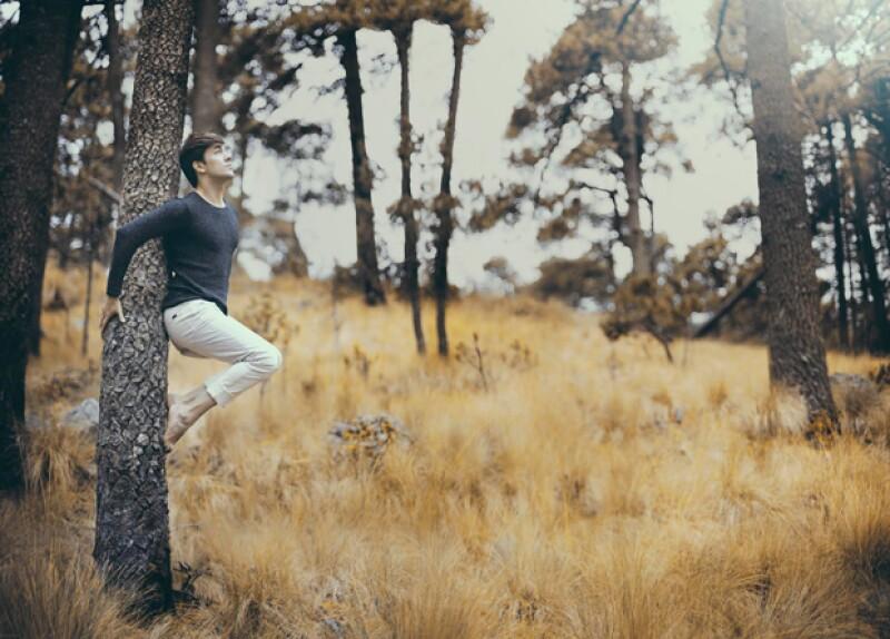Essta foto en especial fue importante para Roger por en contacto tan directo con el árbol y la naturaleza.