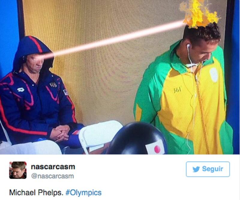Los Juegos Olímpicos no podían ser la excepción cuando de tomar las cosas con humor se trata, e internet ya reaccionó a un peculiar gesto que hizo el nadador estadounidense.