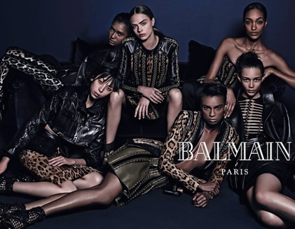 """La campaña de Balmain buscaba resaltar """"la belleza de la diversidad"""", según el diseñador Olivier Rousteing."""