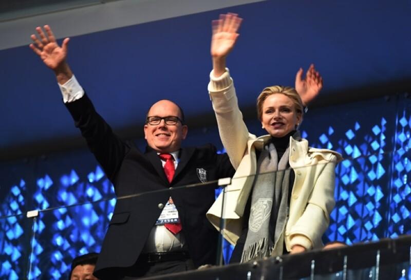 El 7 de febrero, el príncipe Alberto y Charlene asistieron a la inauguración de los Juegos Olímpicos de Sochi.
