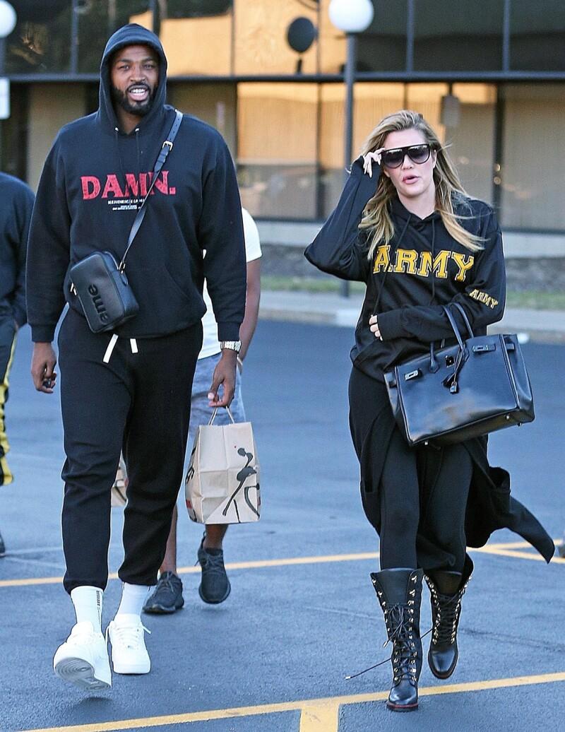 Khloé Kardashian y su novio Tristan Thompson