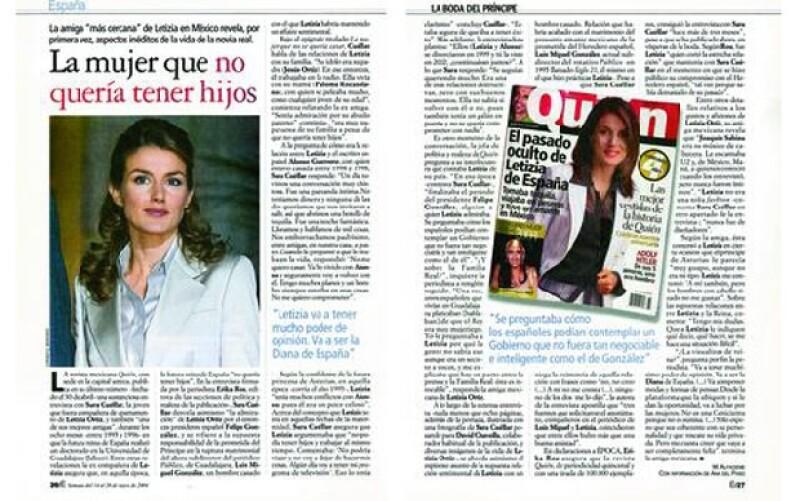 Fue tanto el impacto de el reporataje sobre la vida de Letizia en México, que otros medio internacionales como la revista Época retomó los datos.