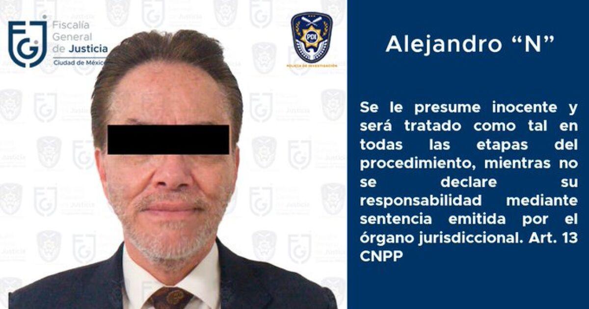 La Fiscalía de la CDMX ordena prisión preventiva para Alejandro del Valle