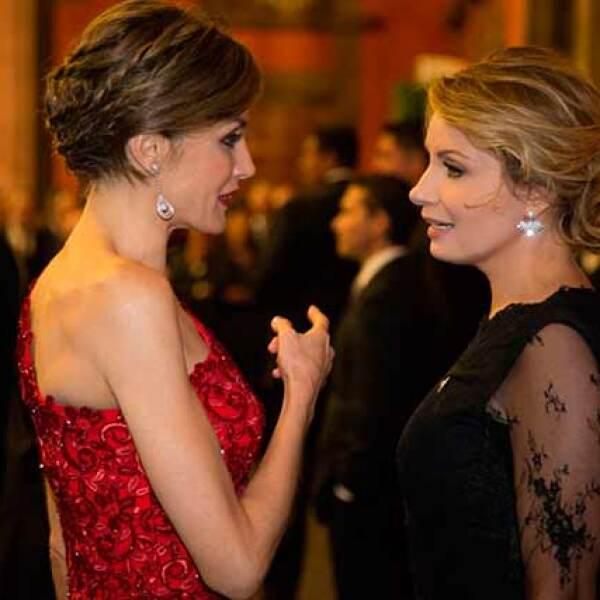 La reina Letizia y Angélica Rivera dieron muestra de la gran relación que hay entre ellas.