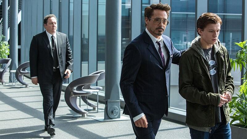 Tom Holland y Robert Downey Jr.
