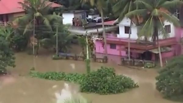 La temporada de lluvias monzónicas deja miles de damnificados en la India