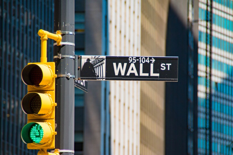 Wall Street sign, Manhattan, New York