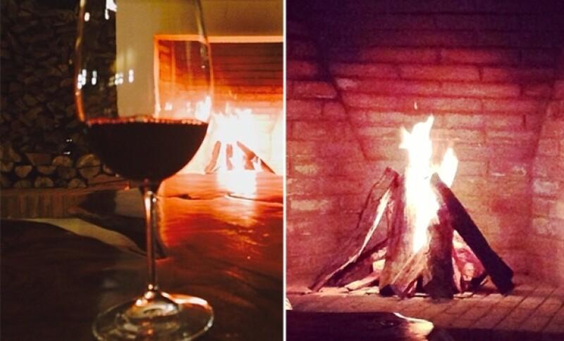Disfrutaron una tarde de chicas bohemia y al calor de la chimenea y el vino tinto.