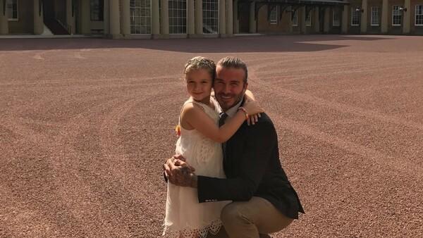 David y Harper Beckham