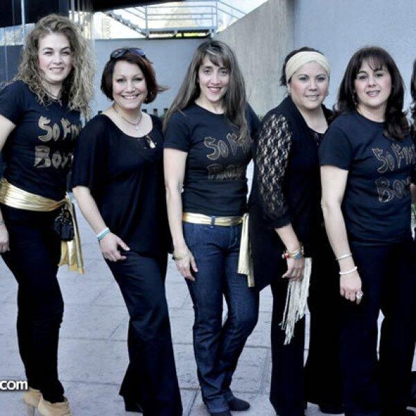 Tere Méndez, Mayita Herrera, Maricruz de Garza, Irma de Ocampo, Nancy de Carrera y Maru de Rivera