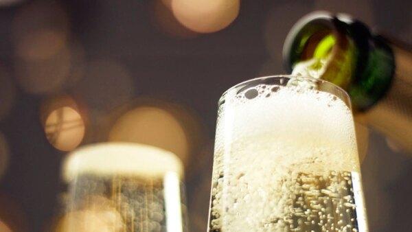 Champagne gravedad cero