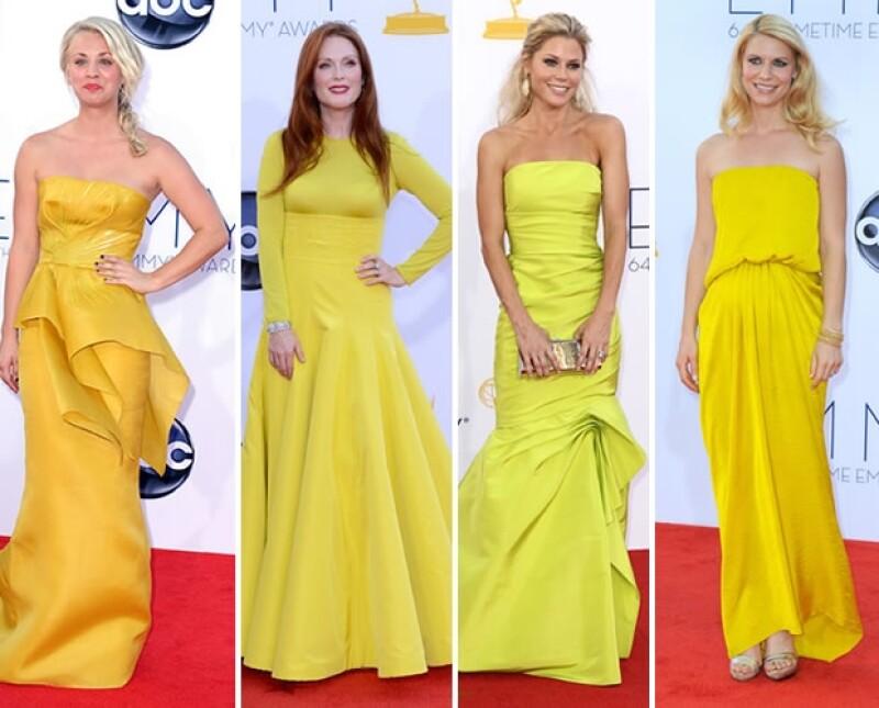 El amarillo fue predominante.