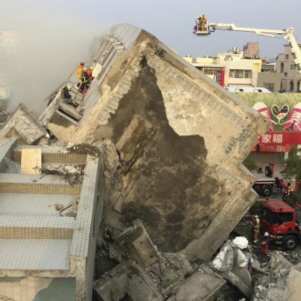 Un temblor de magnitud 6.4 sacudió la ciudad de Tainan