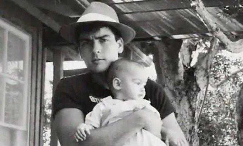 Sheen se convirtió en papá cuando iba a la preparatoria.