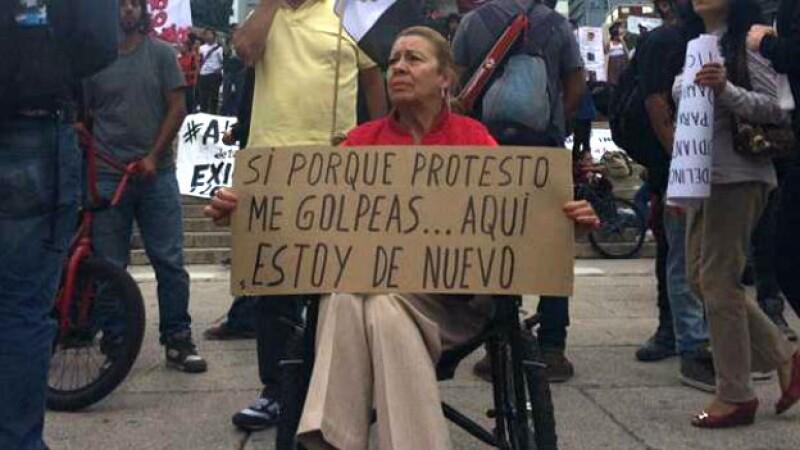 Manifestación parra exigir libertad de los 11 detenidos