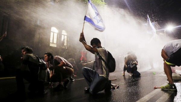 Israelis protest against PM Netanyahu in Jerusalem