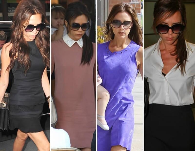 Cuatro hijos, su trabajo como diseñadora, ser la Sra. de Beckham y volar de Los Ángeles a Londres parecen ser razones más fuertes que el estilo.