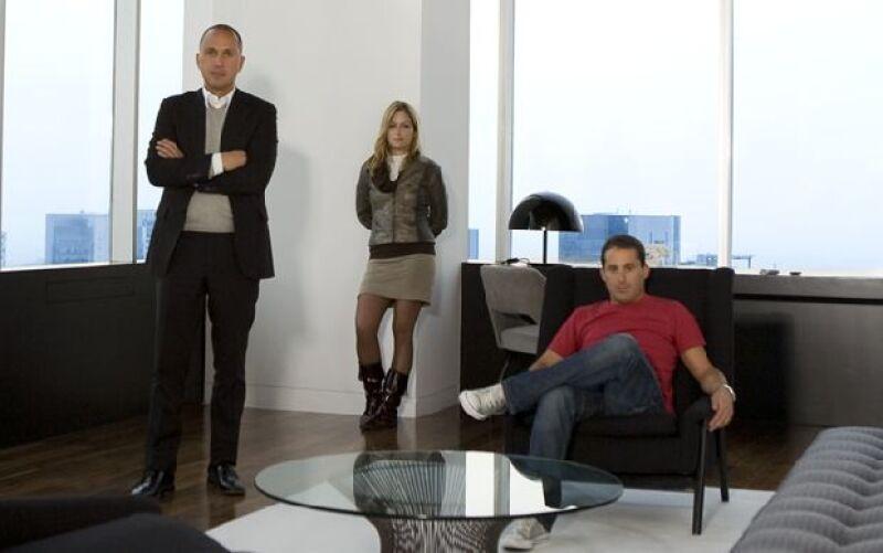 Carlos Couturier, Michaela Di Bernardi y Moises Micha.