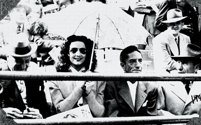 María Félix y Agustín Lara  en la Plaza México en 1946.