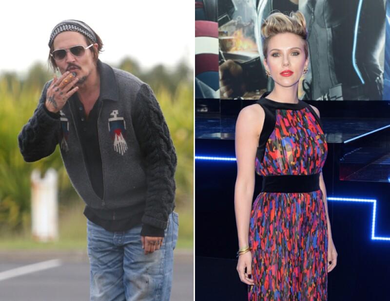 Johnny Depp odia a los payasos y Scarlett Johansson no puede ver ni una cucaracha cerca.