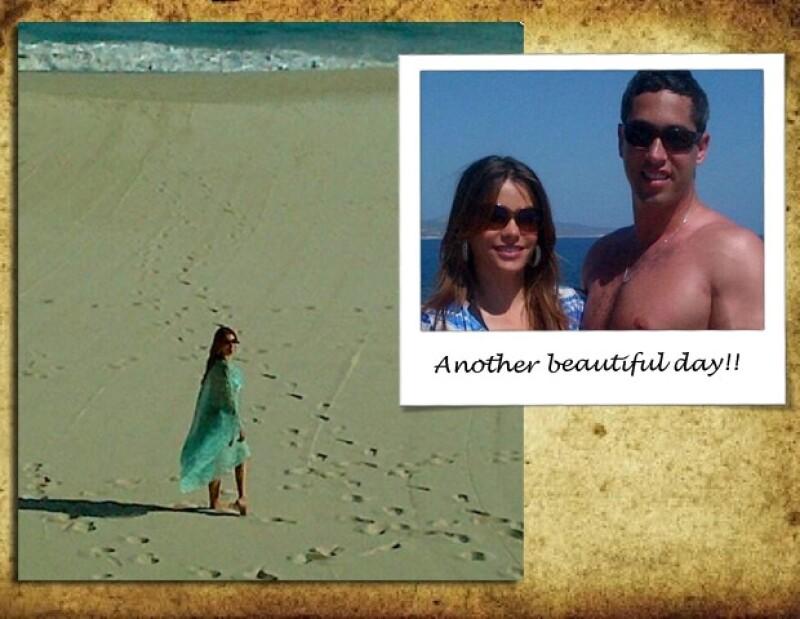 La actriz de `Modern Family´ compartió con sus fans algunas fotos de su viaje a Los Cabos, y donde contó lo bien que se la pasó al lado de su novio, Nick Loeb.
