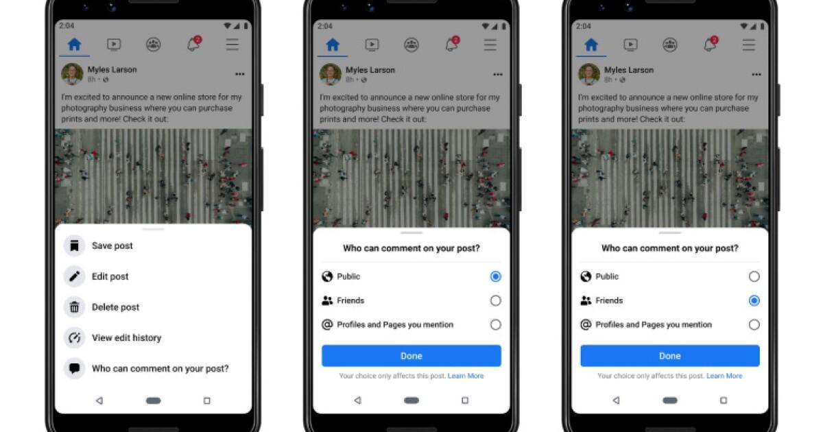 Facebook da nuevas opciones de control para evitar mensajes tóxicos