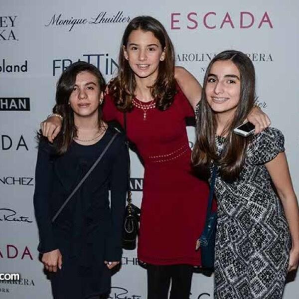Niobe Peña,Paula Garrido y Mauricia Peña.