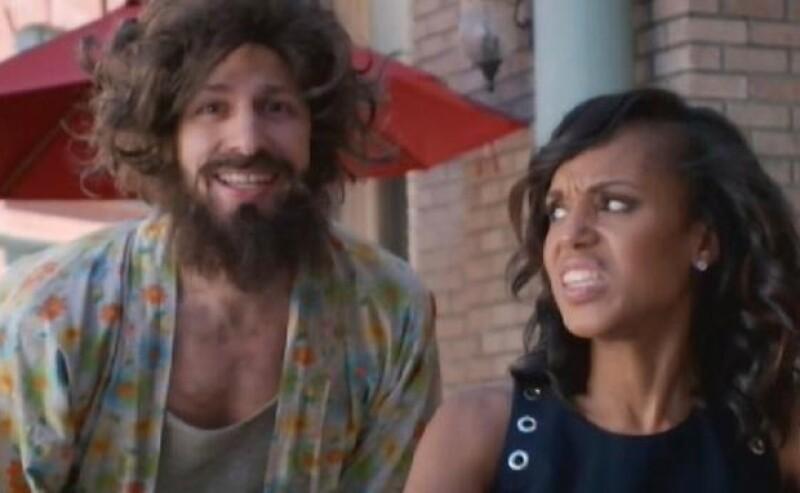 El comediante hizo un musical como presentación en donde la actriz Kerry Washington hizo un cameo.