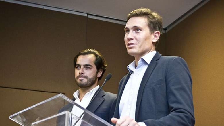 Carlos Orellana y Javier Okhuysen fundadores de salaUno, ganadores de la edición Emprendedores 2012 de la revista Expansión y el sitio CNNExpansión, animaron a los finalistas y compartieron su experiencia.