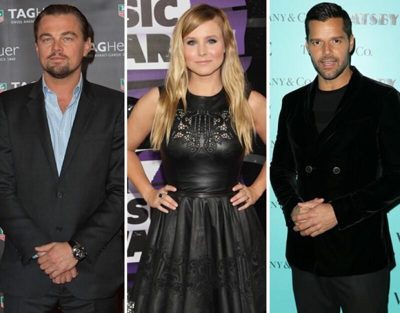 Leonardo DiCaprio, Kristen Bell, Ricky Martin.
