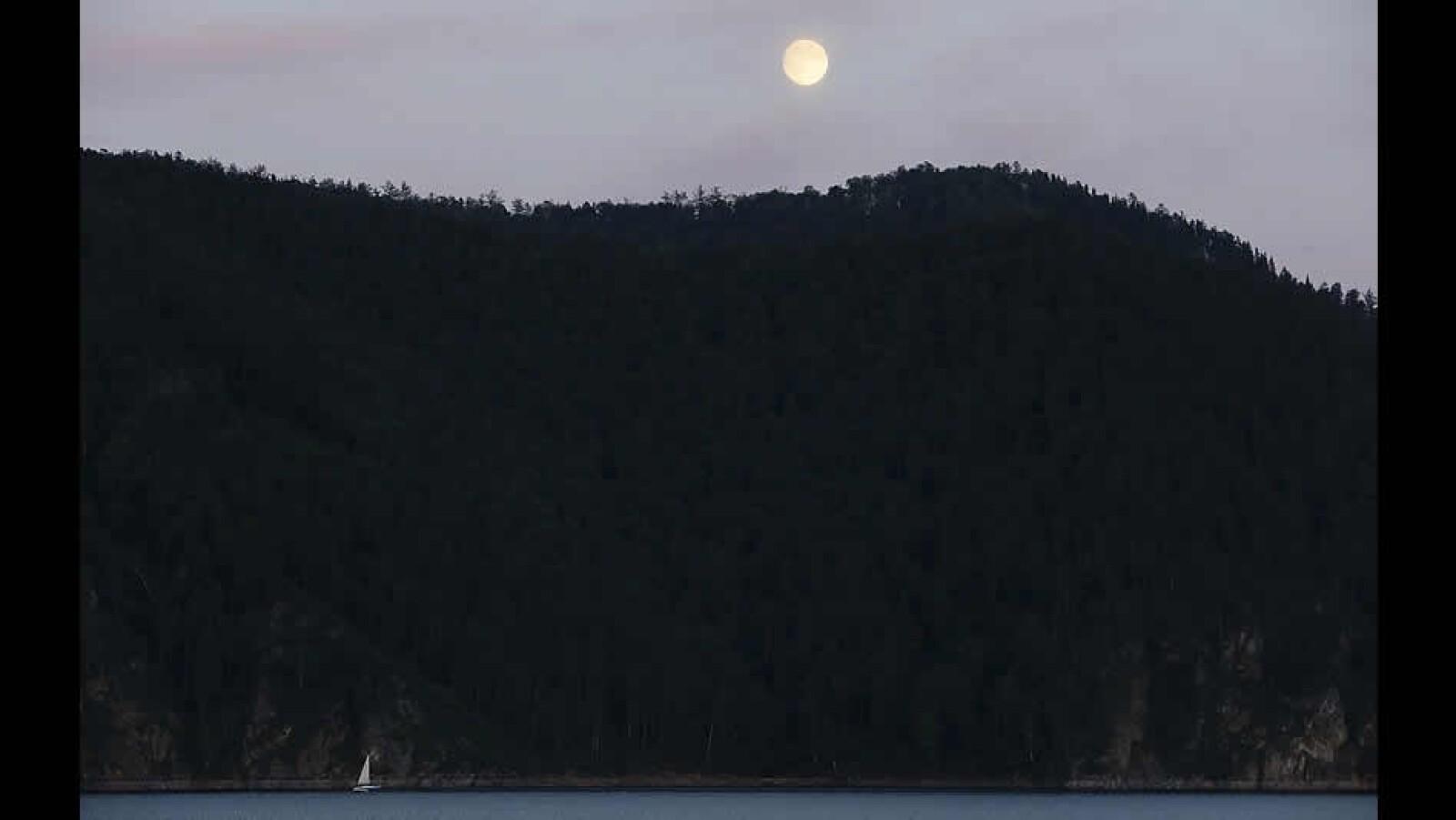Super luna superluna Siberia