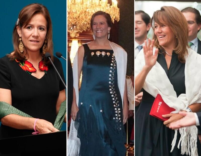 Margarita Zavala es una experta en darle un grio mexicano a su look.