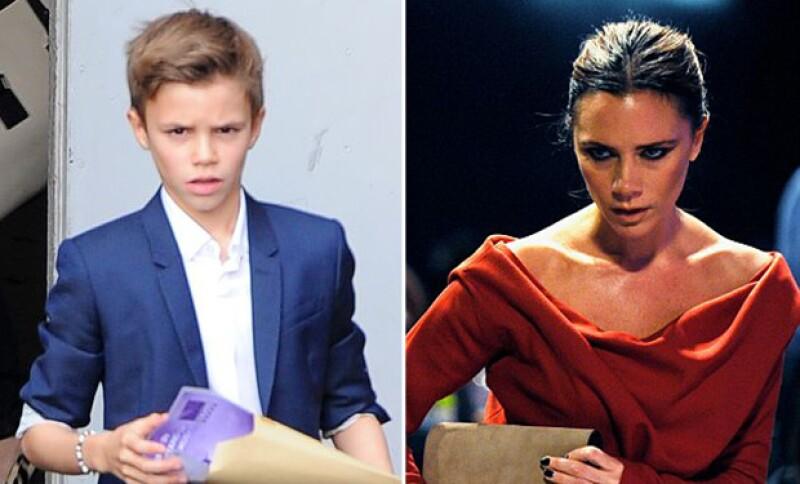 Romeo y Victoria hacen la misma cara cuando están serios. ¡Qué intensa mirada!