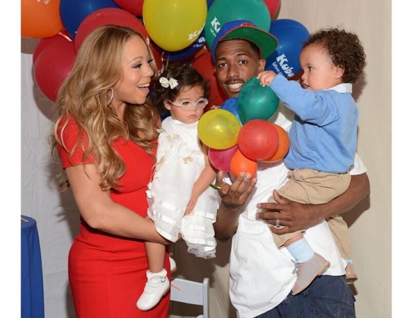 Mariah, Nick y sus gemelos son una familia modelo.