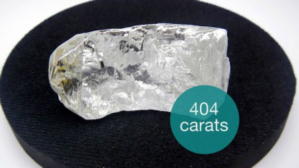 El diamante encontrado es el 27 más grande del que se tiene registro. (Foto: Cortesía/ Lucapa Diamond Company)