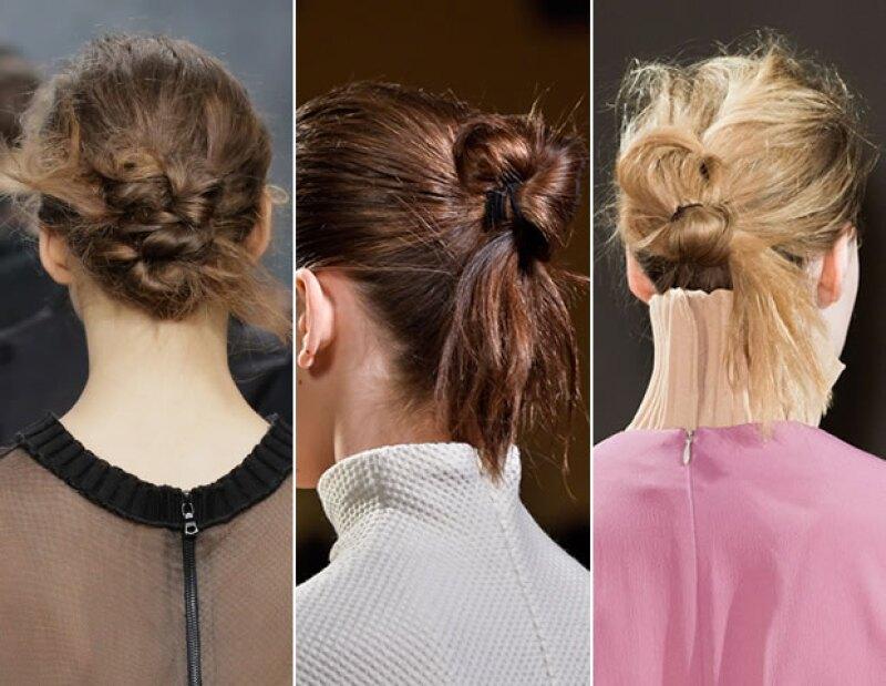Opta por un knot como lo proponen Vera Wang, Victoria Beckham y Veronique Leroy.