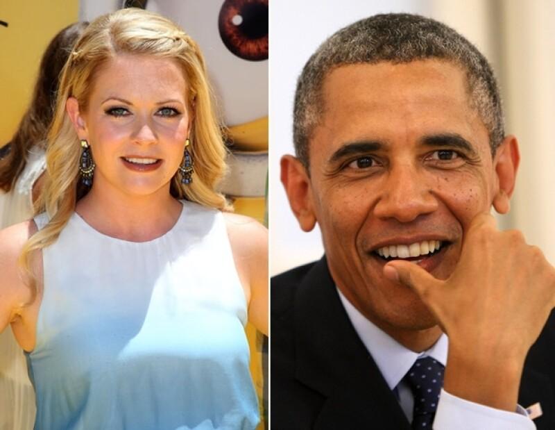 Melissa Joan Hart, Barack Obama.