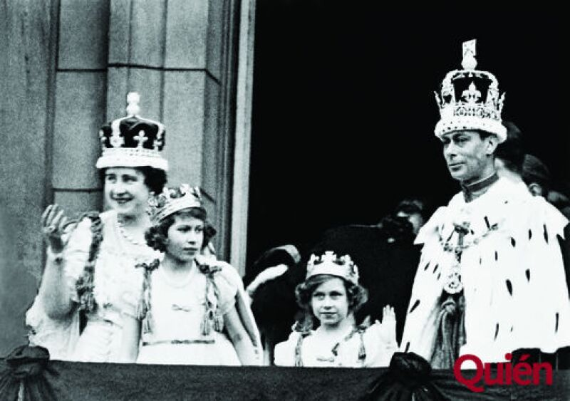 Reina Isabel I de Inglaterra (reina madre), Princesa Isabel II de Inglaterra, princesa Margarita de Inglaterra, Rey Jorge VI de Inglaterra