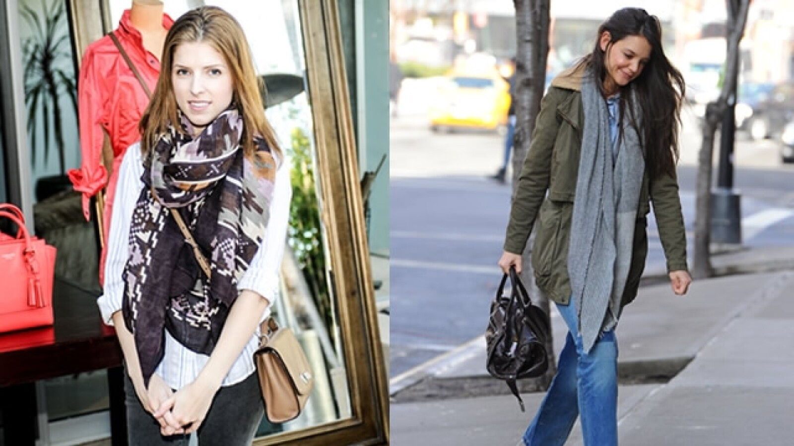 Anna Kendrick Katie Holmes bufanda scarve
