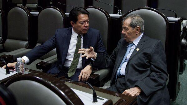 Mario Delgado y Porfirio Múñoz Ledo