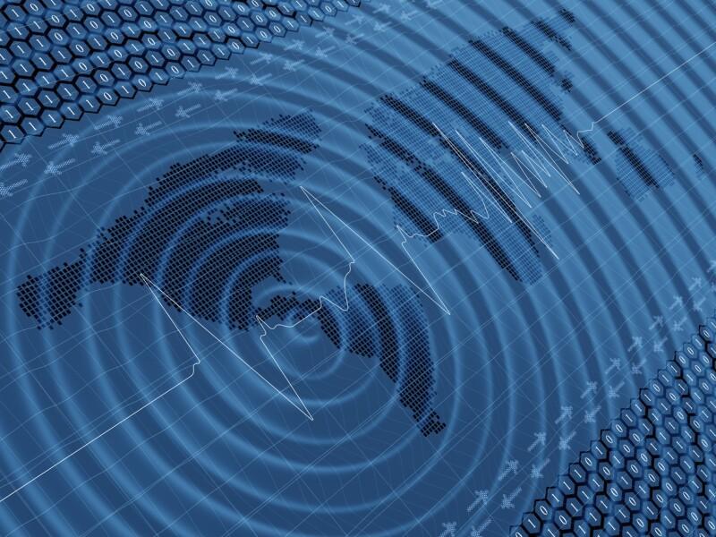 Earthquake wave seismic activity